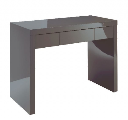 Puro Double Dressing Table Desk - Charcoal